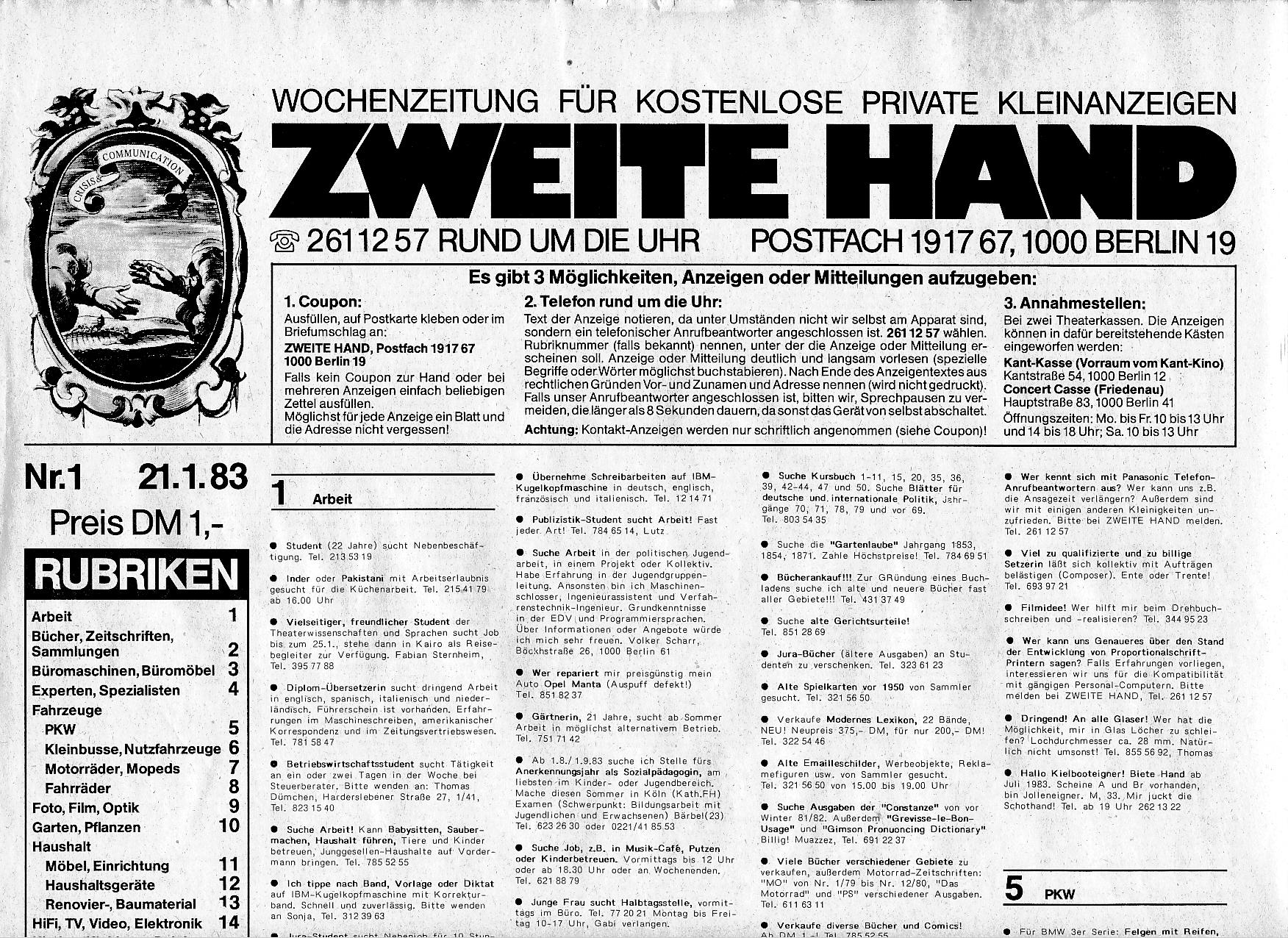 Zweite Hand Wochenzeitung Fur Kostenlose Private Kleinanzeigen Klausk Berlin